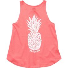 Polera sin Mangas Niña Watercolor Pineapple